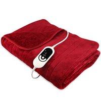 Cobertores 2021 Inverno aquecido aquecido xaile xaile cobertor super macia flanela coral eléctrica