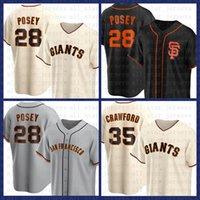 San Francisco Baseball Jersey Gigantes Personalizado 28 Buster Posey 22 Will Clark 35 Brandon Crawford 40 Madison BumGarner 8 Caçador Pence