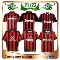 1998 AC Retro Kaka Soccer Jersey 00 01 02 03 04 05 06 07 Gattuso Gullit Van Basten Barsi Ronaldo 93 94 95 96 Milan Rivaldo Weav football Shirt Uniforme
