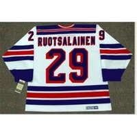 Goodjob Männer Jugend Frauen Vintage # 29 Reijo Ruotsalainen New York Rangers 1984 CCM Hockey Jersey Größe S-5XL oder Benutzerdefinierte Name oder Nummer