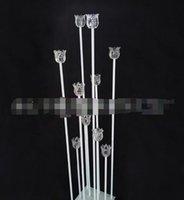Nuove eleganti decorazioni di corridoio di nozze all'ingrosso pilastri metallici / fiori di nozze pilastro / wedding walkway wedding crystal