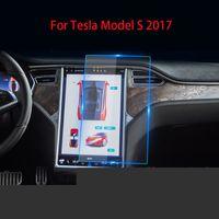 Первоначальная GPS Автомобильная навигация Стальной пленкой для Tesla Model S X 2017 2019 Центральный контроль ЖК-экран Стекло из закаленного HD фильма