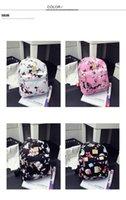 Flower Printed Bag Pu Small Backpack Broken Flowers Fashion Bags Trend Backpacks