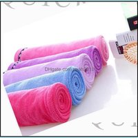 Textiles Home & Gardenwomen Caps Microfiber Dry Bath Towel With Button Absorbent Quick Drying Turban Wrapped Hair Hat Bathroom Aessories Dro