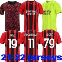 2021 2022 CA Milan Jersey de football 21 22 Tibrahimovic Brahim Bennacer Kessie Romagnoli Calhanoglu Onali Rebic Maillot Hommes + Kit Kit Chemise de football