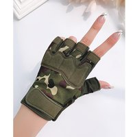 Spring and Summer Half Finger Gloves camouflage tactics men's outdoor riding breathable fitness mountaineering Motorcycle Riding