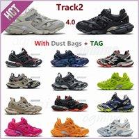 3.0 Tess S Track2 Corredores zapato para hombre Pista de mujeres 20SS 19FW Negro Plataforma de fondo grueso Deportes Zapatos casuales Zapatillas de deporte 35-45 [No hay versión de lámpara] SJPE #