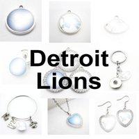 Football Team Detroit Sport Charms Lions Dangle Hanging Charms Bracelet Bracelet Bracelet Collier Bijoux Bijoux ACCESSIONNEMENT