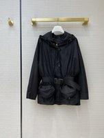 밀라노 활주로 재킷 2021 봄 긴 소매 후드 패널 패널 여성 디자이너 브랜드 동일 스타일 코트 0316-1