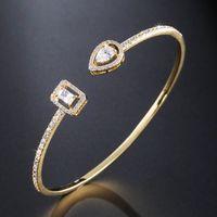 Luxury Snake Shape Adjustable Cuff Bangle For Women Tennis Bracelets Anniversary Gift Jewelry