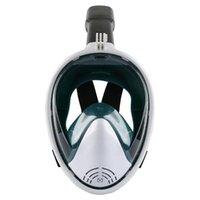 Face Face Máscara de Mergulho Anti nevoeiro Óculos de nevoeiro com câmera Montagem subaquática Vista ampla Snorkel Máscara de natação para a juventude adulta