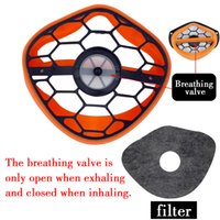 Cara Kanshouzhe Mascarilla reutilizable Máscara lavable Separación de la nariz Seguridad Polvo Boca Masks Respirador de polvo con 10pcs Fil