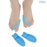 2pcs Soft Silicone Toe Separatore Straightener Thumb Thumb Thumb Thumb TOE ALLINERING Posizionamento Separatore Separator Strumento di cura del piedino