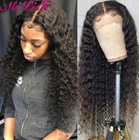 Lace Wigs 30 Inch Curly Human Hair Wig For Women Pre Plucked 13x1x6 T Part Brazilian Remy MII LISA Deep Wave