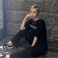Popularity Streetwear Black designer Women's Men's T-Shirt embroidery printing T shirt s Fashion skatewear Clothing Female Tops Ladies Tees