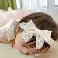 baby girls lace princess hair accessories Spring summer 2021 children bowknot hairband kids lovely hairs clip Barrette headdress D152