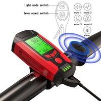 إشارة المرور 3 في 1 USB دراجة 5 LED الكمبيوتر / قرن الدراجة الجبهة IPX4 للماء المصباح عداد المسافات الملحقات