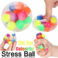 Fidget Toysクリエイティブカラフルなベントボールの減圧玩具男性と女性の減圧玩具スケシのJuguetes Figet DHL無料CJ05