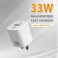 GaN 33W fast Charger Type C for iphone High Speed Dual USB Android and laptop universal pd phone charging head