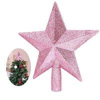 Рождественские украшения 20см Звездный Дерево Топпер Блеск Украшение для вечеринки Домашняя пятерка