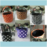 Wrap Event Festive Party Supplies Home & Garden5 Styles Designs Stripe Printed Buckets Halloween Tote Trick Or Treat Candy Gift Bag 23*20Cm