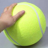 Haustierbissspielzeug 24cm Riesige Tennisball für Hunde Kauspielzeug Schlauchabluft Tennisball Signature Mega Jumbo Pet Spielzeugkugel Liefert D2.5 H0830