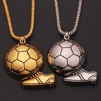Pendant Necklaces Soccer Shoe Sneaker Pendants Necklace Football Alloy Ball Jewelry Link Chain For Men Sports Fashion Design Charm Gift
