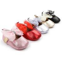 아기 소녀 신발 신생아 신발 유아 신발 0-1T 레이스 bowknot 공주 유아 신발 moccasins 부드러운 첫 번째 워킹 신발 아기 신발 B4081