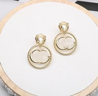 2021 vintage lion head letters Dangle & Chandelier temperament earrings female high quality fast delivery