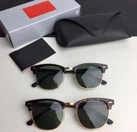 2021 Brand New Brand Brand Polarized Occhiali da sole Uomo Donna Pilota Sunglasses UV400 Occhiali da vista Occhiali da vista Telaio in metallo Polaroid Lente con scatola Caso 51-21-135