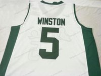 Custom Custom Michigan Cassius Winston College Basketball Jersey Mens Все сшитые белые любого размера 2x-5xL имя и номер высокого качества