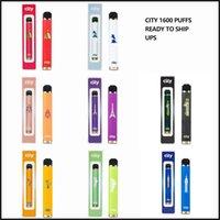 City 1600 Blows Dispositivo di pod monouso Dispositivo di pod di alta qualità E Sigarette Penne 5,5 ml Cartuccia di capacità