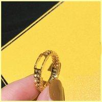 Fashiom Дизайнерские кольца Diamond Letter F Кольцевые обязательства для женских кольцевых дизайнеров Ювелирные изделия Хеанпока Мужские Золотые кольцевые орнаменты 21080601R