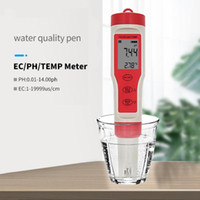 PH TESTER PEN PEN ACQUA MONITOR Monitor Analisi di misurazione del suolo Test di acidità 4 in 1 Digital PH TDS TDS Meter Temperatura CE