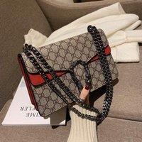 Compras 2021 Saco das Mulheres Estilo Limitado Handbag Cadeia De Couro De Couro Diagonal Sacos Crossbody Bolsas