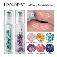 Hanveiyan Dudak Parlatıcısı Kristal Top Nemlendirici Dudaklar Yağ Arıtımı Lipgloss Nemlendirici Besleyici Doğal Tüm Gün Savunma Makyajı