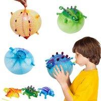 TPR Bambini creatività divertente soffiando dinosauro giocattoli palloncino ansia ansia stress sollievo gonfiabile spremere palla bambini regali di partito novità