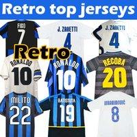 Final Champion 2009 2010 Inter Milan Trikot Fußballs MILITO SNEIJDER ZANETTI Retro Vintage soccer jerseys Pizarro Ronaldo 1997 98 99 2002 2003 Djorkaeff Baggio Trikots Fußball
