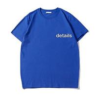 Yaz Erkek Tasarımcı T Gömlek Casual Adam Bayan Gevşek Tees Harfler Baskı Kısa Kollu Üst Satmak Marka Hip Hop Tişörtlü