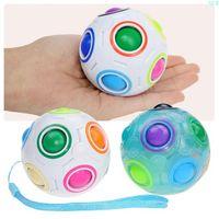 DHL Creative Spheric Magic Rainbow Ball Plastic Magic Balls Puzzle Children Educational Learning Luminous Toys for Children