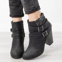 Les bottes de femmes à talons hauts de Monerffi ne sont pas liées avec une boucle de boucle de boucle et une cheville pointue 2019 New Hiver New Hommes Chaussures Mens Bottes FR L6A1 #