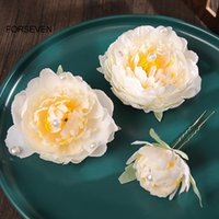 Hair Clips & Barrettes 3pcs Artificial Chrysanthemum Side Hairpin Pearl Inlaid Chinese Style Cute Vintage Headdress Hanfu Clothing Accessori