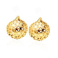 VAROLE Punk Hollow Out Ball Stud Earrings For Women Gold Color Earring Fashion Jewelry Party Boucle Oreille Femme