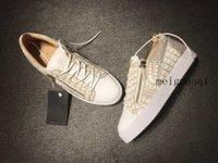 2021 pares de zapatos casuales de cuero con cremallera con cremallera Pareja de suela gruesa Pareja de zapatos deportivos de moda blanca zapatos de moda hombres y mujeres diseñador marca
