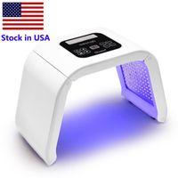 Voorraad in de VS 7 Kleuren PDT LED Huidverjonging Therapie Verwarming Beauty Apparaat LED Facial Masker Acne Removal Anti Rimpel Lighten Spots