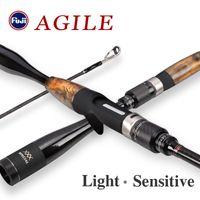 Tsurinoya Rodilla de pescar Agile X- Envoltura de accesorios Fuji 1.96m 2.01m L / ML Ml ultraligero de fibra de carbono GRIP DE CAMINO DE PIERNO