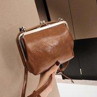 Evening Bags 2021 Lady Small Bag Double Clip Korean Retro Single Shoulder Crossbody Shopping Travel Outdoor Fashion