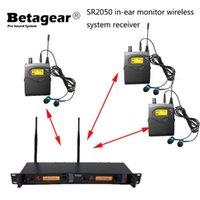 Betagear SR2050 1 Приемник Стерео монитор приемник Bodypack с наушниками для монитора на ушной монитор Профессиональная этап
