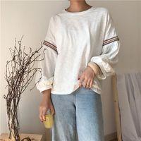 Women's T-Shirt Batwing Sleeve Loose T Shirt Women Vetement Femme 2021 Spring All Match Korean Casual Tee Female Clothing O-Neck Tops