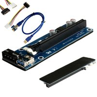 60cm PCI-E Express 1x to16x Extender Adaptateur de carte de montage 4Pin SATA Câble d'alimentation US UY8